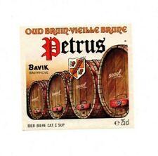 Belgium - Beer Label - Bavik, Bavikhove - Petrus Oud Bruin