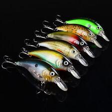 Quality 6pcs Lot Fishing lure Exported Bait 9cm/16.7g Crankbait 6 color 4# Hooks