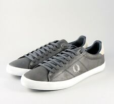 84d10e37b7a Fred Perry Howells Leather Men s Trainer Shoes B7508-491 - Charcoal