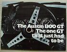 AUSTIN 1300 GT Car Sales Brochure Aug 1969 #2677