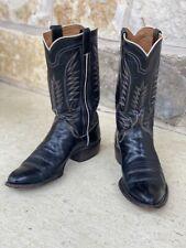 Vintage ML Leddy Black Calf Cowboy Boots. 10 B