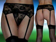 Erotischer SeXy Strapsgürtel mit String, aus Spitze, schwarz, Gr. S- L