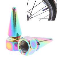 2x Bunte Tragbare Aluminium Fahrrad Auto Reifen Luftventilkappen RadfahrenRSDE