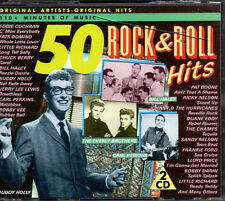 50 Rock & Roll Hits - 2 CD Box Set - 110 + Minutes Original Hits