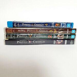 Pirates of The Caribbean DVD 4 x Movie Bundle Free Post Region 4 AUS