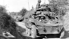 WWII B&W Photo M8 Greyhound Armored Car Normandy D-Day   WW2 / 3008