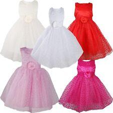 Mädchen Partykleid Blumenmädchen Kleid 9 12 18 24 Monate 2 3 4 5 Jahre