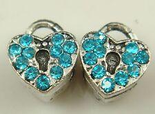 hot European Silver CZ Charm Beads Fit sterling 925 Necklace Bracelet Chain ul9u