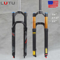 "LUTU MTB Bike 26/27.5/29er Suspension Fork 1-1/8"" Rebound Disc 120mm Air Fork"