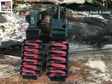 20 22 Black Red Plum  Adjustable Survival Paracord Watch Band Replacement