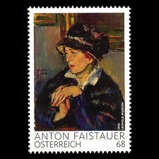 Austria 2015 - Paintings Woman Wearing Dark Hat by Anton Faistauer - Sc 2573 MNH