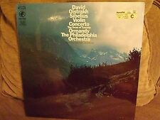 Scarce Sealed Sibelius Violin Concerto LP-Oistrakh/Oormandy/Philadelphia-Odyssey