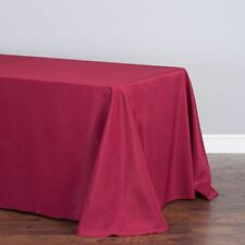 90 x 132 in. Rectangular Polyester Tablecloth Burgundy