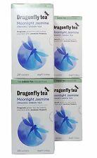 Dragonfly Tea Moonlight Jasmine Organic Green Tea - 20 Sachets (Pack of 4)