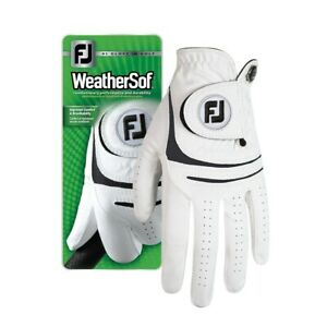 Footjoy Mens Weathersof All Weather Glove Glove White 66241 Left Hand for Right
