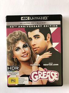 Grease (4K UHD + Blu-ray, 2018, 2-Disc Set) Like New* Movie Classic Region B