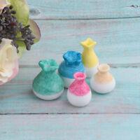 1//12 Dollhouse Miniatures porcelain flower Soup Tureens Bowls Spoons Vases Set
