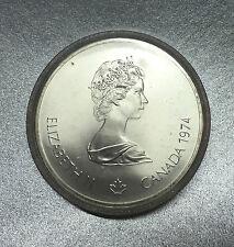 "CANADA 5 DOLLARS J.O ( JEUX OLYMPIQUES ) 1976 "" ATHLETE GREC "" en ARGENT - FDC -"