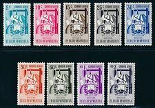 "VENEZUELA 1952, Mi. 763-71 **/MNH, ""Bolivar, airmal"", very fresh and fine"