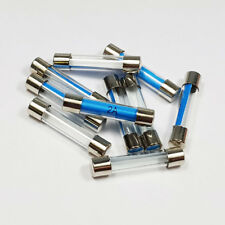 10  x 2 Amp Glass Fuse 2A Amps 6x30mm Quick Blow Fuses - A 6 x 30mm