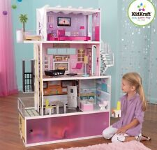 Kidkraft Beachfront Dollhouse Wooden Mansion Furniture Kids Toy Dolls Girls New