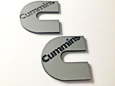 2 Cummins Logos Badges Emblems Decals Dodge Ram Kenworth Peterbilt Volvo Ford