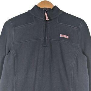 VINEYARD VINES Navy Blue Long Sleeve 1/4 Zip Pullover Sweatshirt - Womens Medium