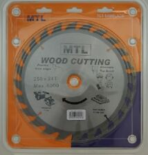 250mm dia. x 24T x 30mm bore MTL brand TCT Circular Saw Blade for Wood cutting
