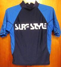 SURF STYLE small rash guard 2-Tone swimming nylon T shirt spandex Wave Attack