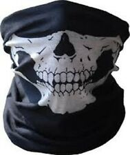 Biker Black Seamless Skull Face Tube Mask SWAT COD GHOST Cold Gear Half Dot