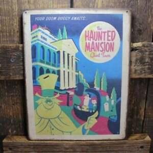 """11"""" HAUNTED MANSION Doom Buggy Disney sign pop ART Wood Vtg style Sign"""