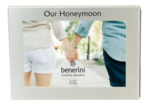 Our Honeymoon Photo Picture Frame Wedding Marriage Engagement  Anniversary Gifts
