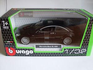 Mercedes Benz CL 550 schwarz, Bburago Street Fire 1:32, Neu, OVP