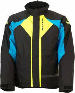 Arctiva 2020 PIVOT 3 Insulated Waterproof Jacket (Black/Blue/Hi-Viz) 2XL