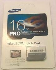 Samsung 16 GB Micro SD Card sdxc PRO 90MB/s UHS-I Class 10 Memory Card