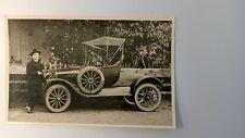 Oldtimer Postkarte Automobil Ford? und ein Foto mit altem Auto