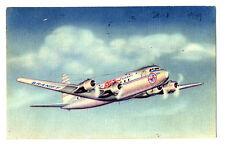 1949 BRANIFF Airways Douglas DC-6  Postcard