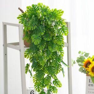 Artificial Green Plants Hanging Vine Ivy Leaves Radish Seaweed Fake Foliage
