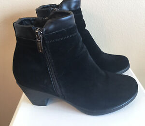 Women's Bastien Canada Ankle Boots Booties Shoes Black Suede Size 8 B
