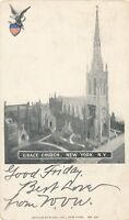 NEW YORK CITY – Grace Church 1903 Postcard – udb