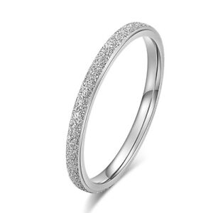 Narrow Elegant Ring Made of Stainless Steel Silver Grey Rau Plain