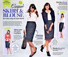 LACY PENCIL SKIRT Simple BLOUSE Separates Prima Sewing Pattern 10 12 14 16 18 20