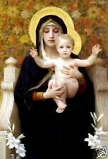 """Painting by hand oil painting:""""Virgin Mary and Child at canvas"""" 24x36 Inch"""