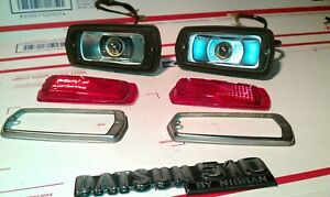 1981 DATSUN NISSAN 510 WAGON REAR RED  MARKER LIGHTS LEFT / RIGHT OEM
