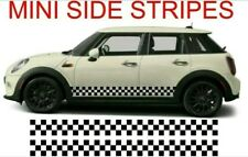 BMW Mini Cooper Checkered Car Side Racing Stripes - Vinyl decal Graphics