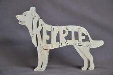 Kelpie Australian Herding Dog  Wood Amish Dog Toy Puzzle Figurine Art