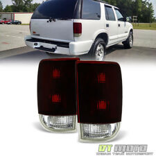 Black Tinted 1995-2005 Chevy Blazer GMC Jimmy Tail Lights Brake Lamps Left+Right