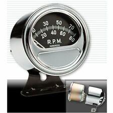 SunPro Mini Vintage Sweep Tachometer Black Drag Car V8 V6 4 Ford NOS Mopar Chevy