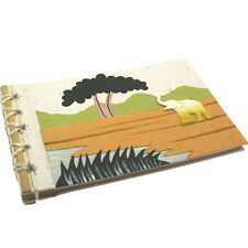 Fair Trade Eco Maximus Elephant Dung Paper Photo Album Scrapbook Natural