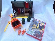 Fireman Sam Toy Figure - Fireman Sam Mountain Rescue Lodge & Helicopter Bundle